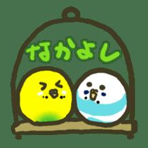 Relaxed parakeet sticker #1498540