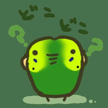 Relaxed parakeet sticker #1498541