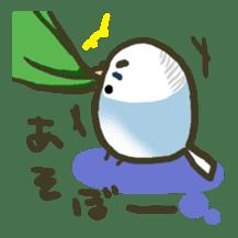 Relaxed parakeet sticker #1498545