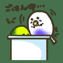 Relaxed parakeet sticker #1498547