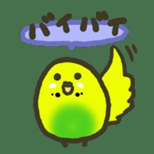 Relaxed parakeet sticker #1498559