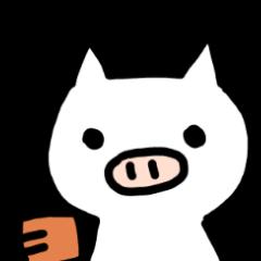 Relax White pig