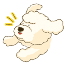 White Poodle (fixed) sticker #1501320