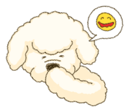 White Poodle (fixed) sticker #1501323