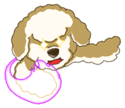 White Poodle (fixed) sticker #1501327