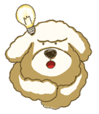 White Poodle (fixed) sticker #1501332