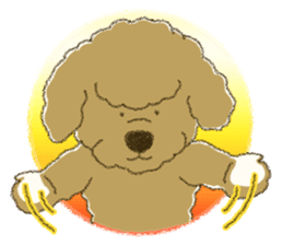 White Poodle (fixed) sticker #1501333