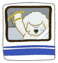 White Poodle (fixed) sticker #1501336
