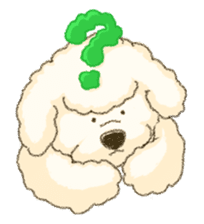 White Poodle (fixed) sticker #1501338