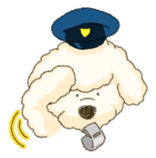 White Poodle (fixed) sticker #1501346