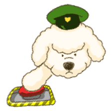White Poodle (fixed) sticker #1501347