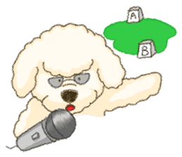 White Poodle (fixed) sticker #1501350