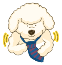 White Poodle (fixed) sticker #1501351