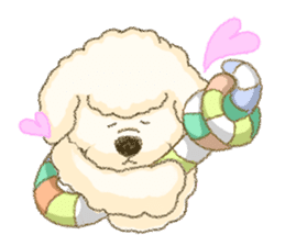 White Poodle (fixed) sticker #1501353