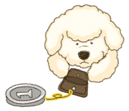 White Poodle (fixed) sticker #1501354