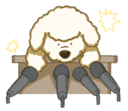 White Poodle (fixed) sticker #1501355