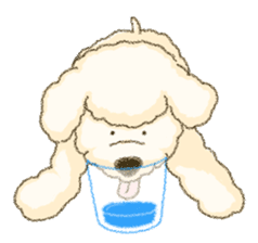White Poodle (fixed) sticker #1501357