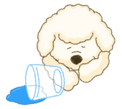White Poodle (fixed) sticker #1501358