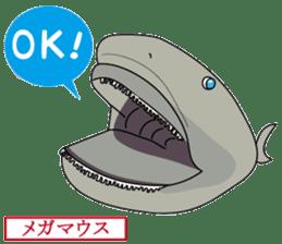 Unpleasant and deep sea sticker #1502487