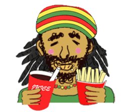 reggae's rastaman sticker #1503728