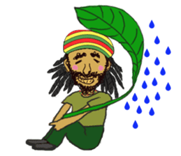 reggae's rastaman sticker #1503730