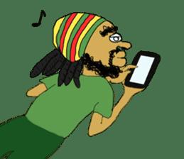 reggae's rastaman sticker #1503732