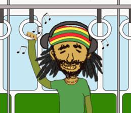 reggae's rastaman sticker #1503733