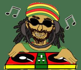 reggae's rastaman sticker #1503734