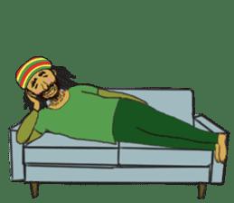 reggae's rastaman sticker #1503735