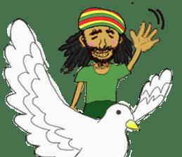 reggae's rastaman sticker #1503737