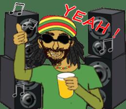 reggae's rastaman sticker #1503738