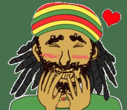 reggae's rastaman sticker #1503741