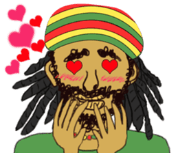 reggae's rastaman sticker #1503742