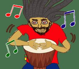 reggae's rastaman sticker #1503744