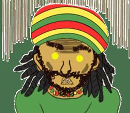 reggae's rastaman sticker #1503745