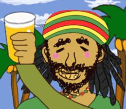 reggae's rastaman sticker #1503747