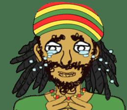 reggae's rastaman sticker #1503750