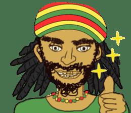 reggae's rastaman sticker #1503751