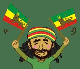 reggae's rastaman sticker #1503758