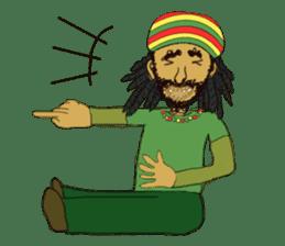 reggae's rastaman sticker #1503759