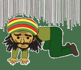 reggae's rastaman sticker #1503761
