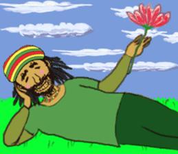 reggae's rastaman sticker #1503763