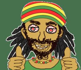 reggae's rastaman sticker #1503766