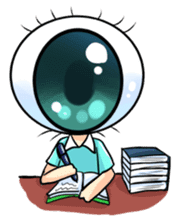 Big Eye Girl sticker #1505713