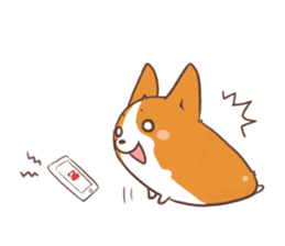 Sticker of Corgi 2 sticker #1505974