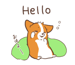 Sticker of Corgi 2 sticker #1505988