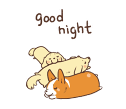 Sticker of Corgi 2 sticker #1505990