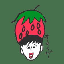 strawberry boy & his vegetables sticker #1506559