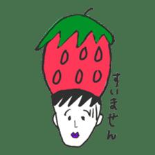 strawberry boy & his vegetables sticker #1506561