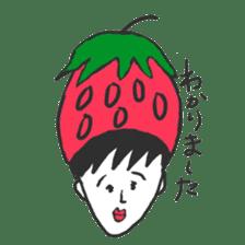 strawberry boy & his vegetables sticker #1506563
